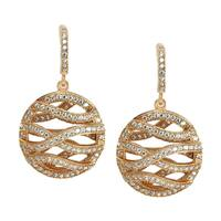 Michael Valitutti Sterling Silver Round Cubic Zirconia Wrap Dangle Earrings