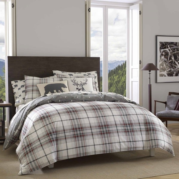 Shop Eddie Bauer Alder Plaid Comforter Set Free Shipping