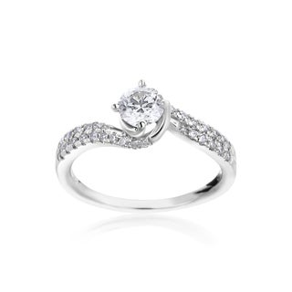 SummerRose 14k White Gold 3/4ct TDW Diamond Engagement Ring