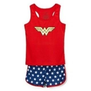 Wonder Woman mesh 2pc short pj set
