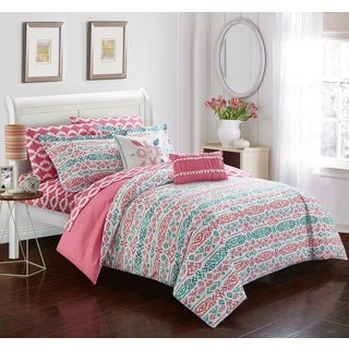 Chic Home Tala Pink 9-piece Reversible Bed in a Bag Set