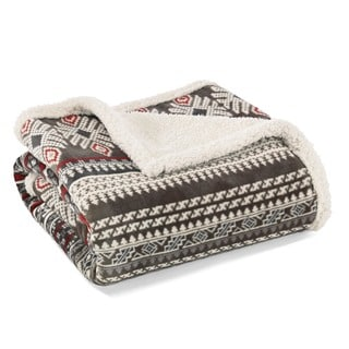 Eddie Bauer Sycamore Plush Throw