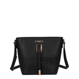 Nikky Jean Black Messenger Bag