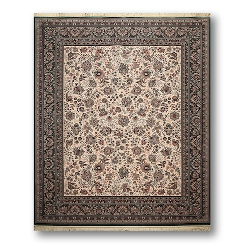 "Ashton European Inspired Tabriz Multicolored Wool Persian Area Rug (8'2 x 9'10) - 8'2"" x 9'10"""