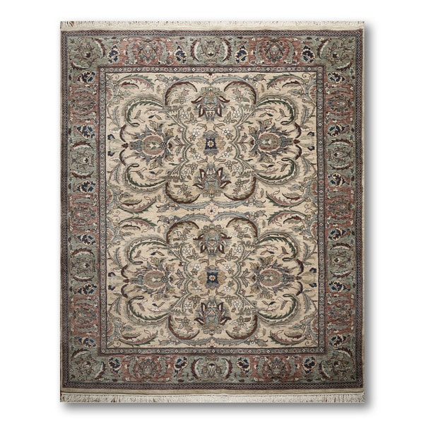 Indo Tibetan Multicolored 100-percent Wool Hand-knotted Area Rug - 8' x 10'