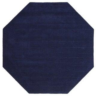 Blue Pulse (8'x8') Wool Octagon Rug - 8' x 8'
