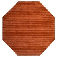 Copper Pulse Wool Octagon Rug - 6'x6'