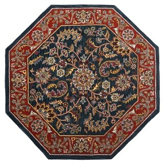 Navy Traditions Kashan (6'x6') Octagon Rug