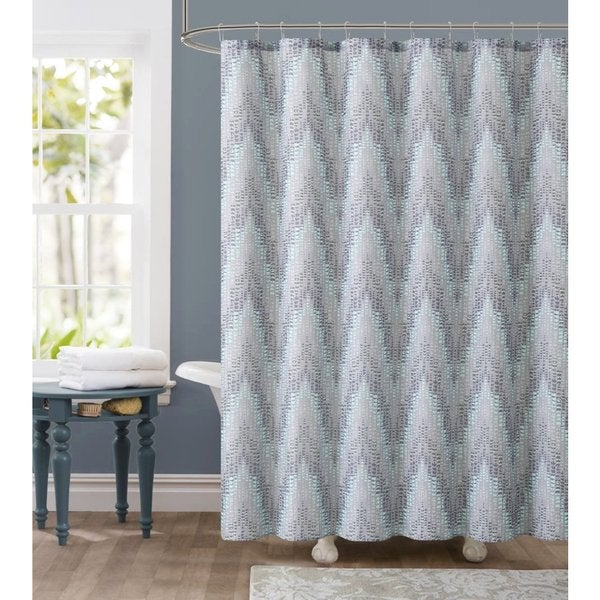 Ruthy's Textile Tile Dobby 72-inch Shower Curtain