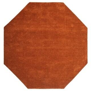 Copper Pulse (8'x8') Wool Octagon Rug - 8' x 8' Octagon