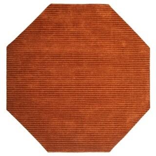 Copper Pulse (8'x8') Wool Octagon Rug