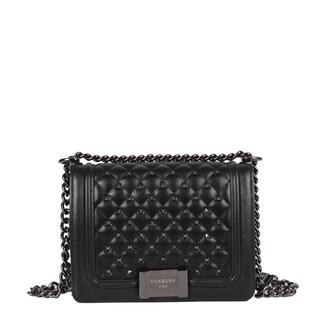 Roxbury Giotto Black Leather Crossbody Bag