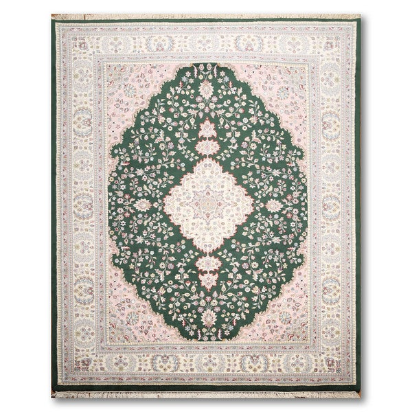 Tabriz Multicolored Wool Oriental Persian Hand-knotted Area Rug - 7'6 x 10'