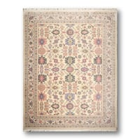 Persian Pink/Ivory 100-percent Wool Hand-knotted Transitional Oriental Thick Pile Area Rug - 8'6 x 11'6