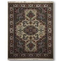 Heriz Multicolored Wool Oriental Persian Area Rug - 8'x11'