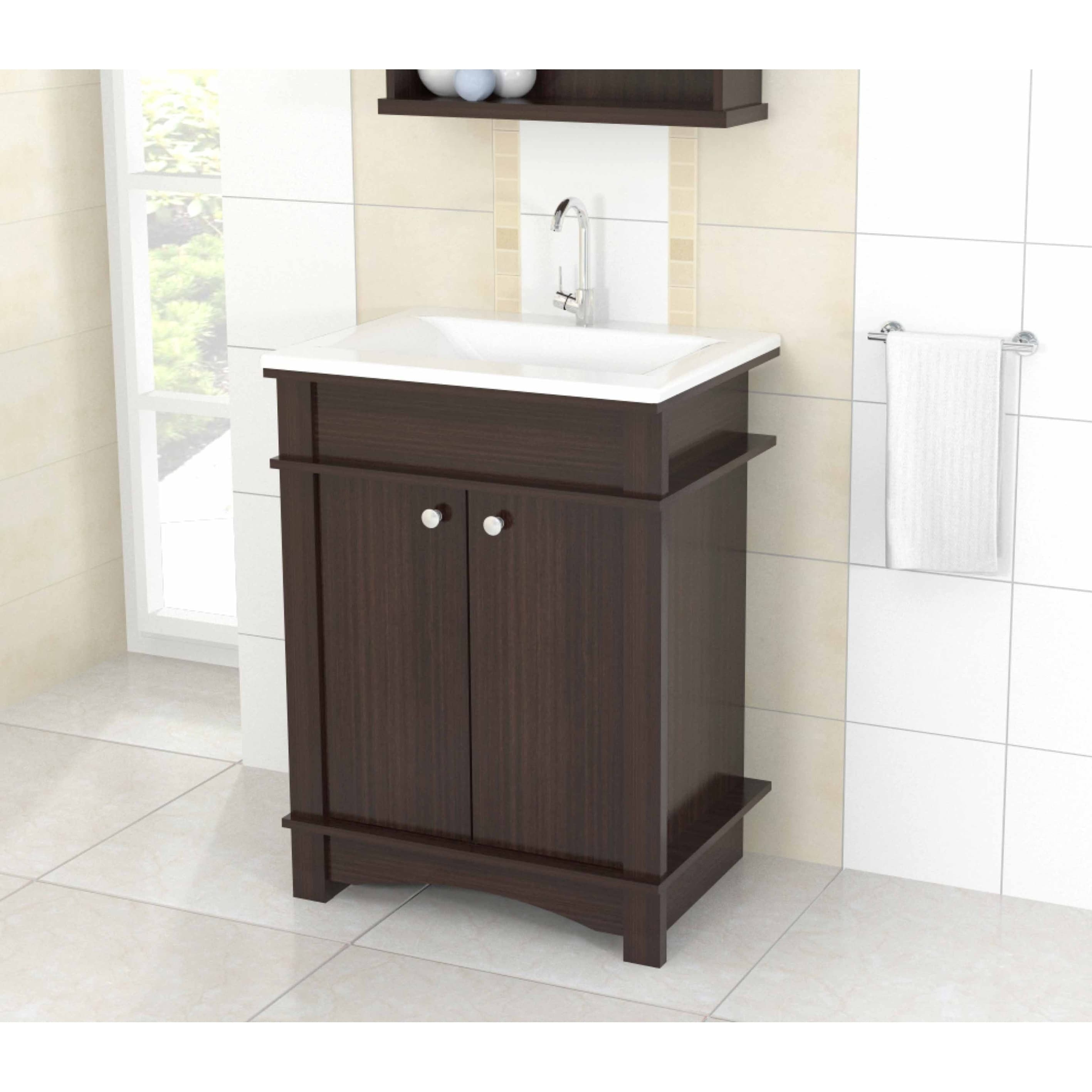 Inval Modern Espresso Bathroom Vanity