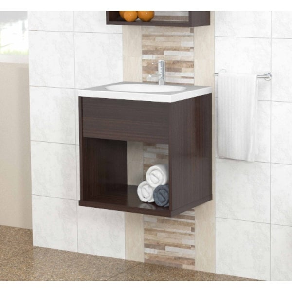 Inval Modern Espresso Bathroom Vanity. Opens flyout.