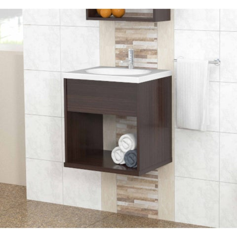 Inval Modern Espresso Bathroom Vanity
