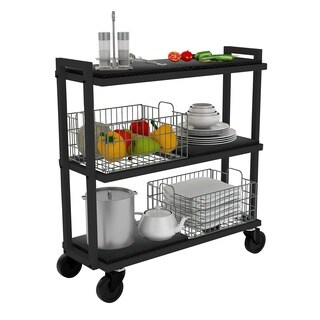 The Curated Nomad Luthor Black Tubular Steel Cart System