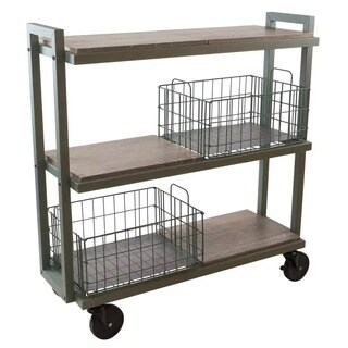 Urb SPACE 3 Tier Tubular Steel Cart System With 4 Interchangeable Shelves,  And 2