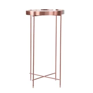 Ritz Pink Metal Tall Side Table