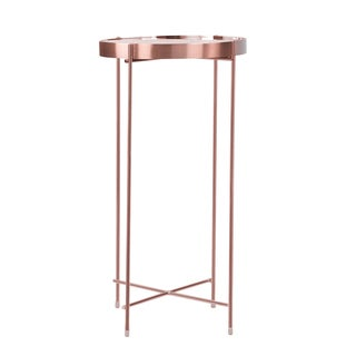 urb SPACE Ritz Pink Metal Tall Side Table