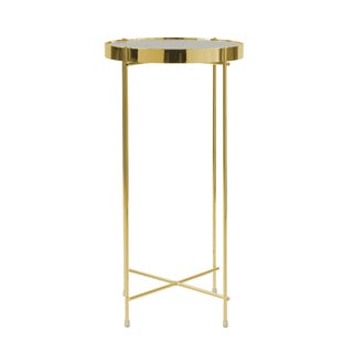 urb SPACE Ritz Gold-tone Metal/ Glass Tall Side Table