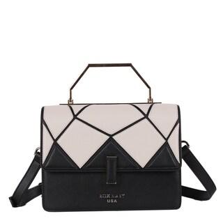 Roxbury Lola Black/White Satchel Handbag