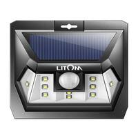 Super Bright 10 LED Solar Light Motion Sensor Light Outdoor Wall Light Wide Lighting Range with LEDs Both Sides