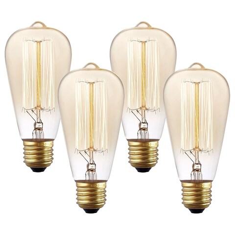 Light Society Set of 4 Classic Edison-Style Bulbs