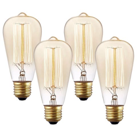 Light Society Set of 4 Classic Edison-Style Bulbs