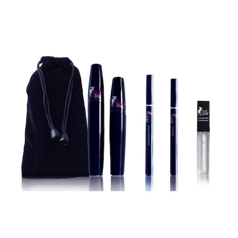 3D Mascara Kit with Eyeliner & Browliner + Free Lip Gloss