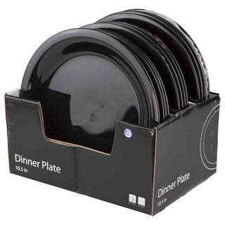 Home Basics 10.5  Ceramic Dinner Plate  sc 1 st  Overstock & Black Ceramic Plates For Less | Overstock.com