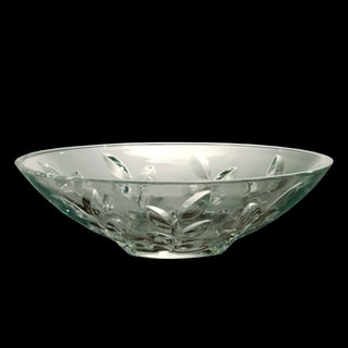 "Springdale 13"" Leaf Vine 24 percent Lead Crystal Bowl"