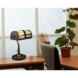 """Springdale 14""""H Cookie LED Tiffany Desk Lamp"""