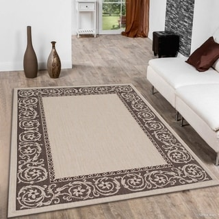 Allstar Beige/ Ivory Indoor Outdoor Traditional Paisley Floral Rug (5' X 7')