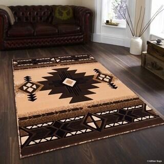 "Allstar Berber/ Brown Woven Native American Rug (5' 2"" X 7' 2"")"