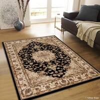 "Allstar Black/ Berber Dense High Pile Persian Rug (5' 3"" X 7' 5"")"