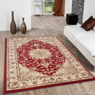 "Allstar Red/ Berber Dense High Pile Persian Rug (5' 3"" X 7' 5"")"