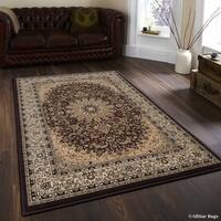 "Allstar Chocolate/ Brown Dense High Pile Persian Rug (5' 3"" X 7' 5"")"
