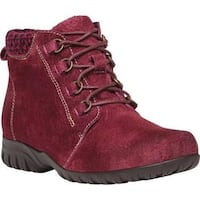 Women's Propet Delaney Boot Dark Red Suede