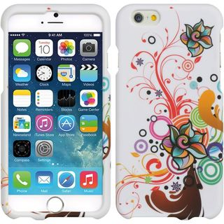 Insten Colorful Autumn Flower Hard Snap-on Rubberized Matte Case Cover For Apple iPhone 6