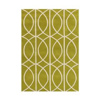 Alliyah Apple Green New Zealand Wool Area Rug (5' x 8')