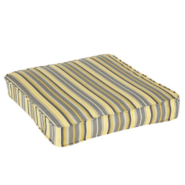 Janey Sunbrella Foster Metallic Indoor/ Outdoor Corded Square Chair Cushion. Opens flyout.