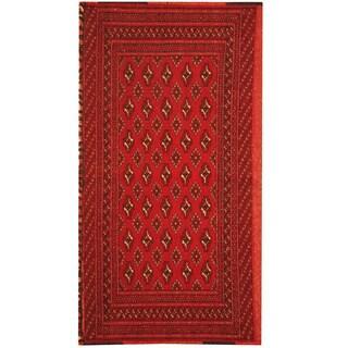 Herat Oriental Afghan Hand-knotted Turkoman Wool Rug (1'9 x 3'4)