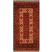 Herat Oriental Afghan Hand-knotted Khal Mohammadi Wool Rug (1'9 x 3'4)