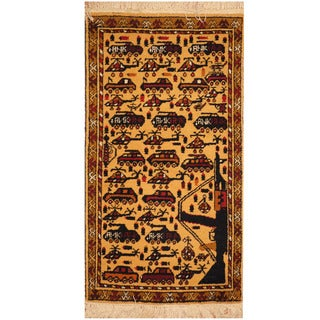 Herat Oriental Afghan Hand-knotted War Rug (1'9 x 3'2)