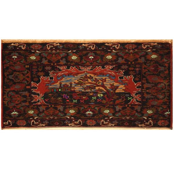 Handmade Herat Oriental Afghan Balouchi Wool Rug - 2' x 3'8 (Afghanistan)