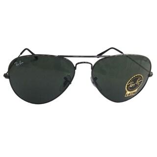 Ray-Ban RB3025 Unisex Aviator Sunglasses - Black