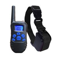 1 in 2 Petrainer LCD Digital Remote Control Electric Shock Devices Anti Bark Collar for 2 Dogs Training US PLUG